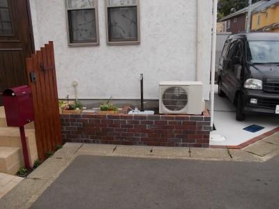 レンガ 立水栓