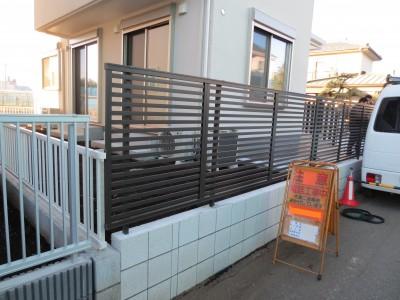 化粧ブロック フェンス