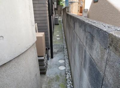 ブロック・フェンス②施工前