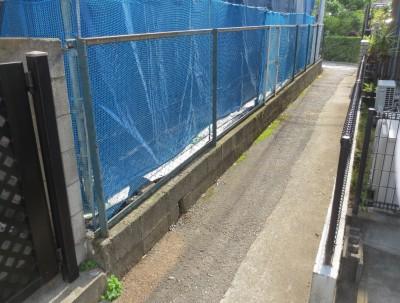 ブロック・フェンス施工前
