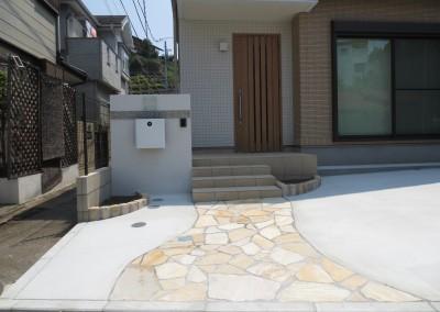 アルビノストーン 石貼り ピンコロ ガラスサイン モザイクタイル ポスト