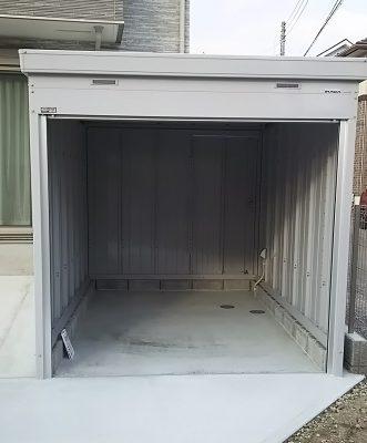 バイク保管庫 FXN-2230S 内部 壁面扉
